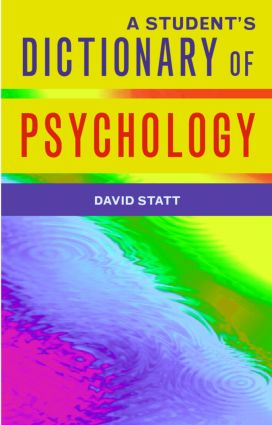 A Student's Dictionary of Psychology (Paperback) book cover