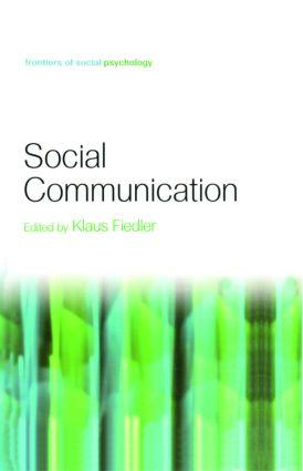 Social Communication: 1st Edition (Hardback) book cover