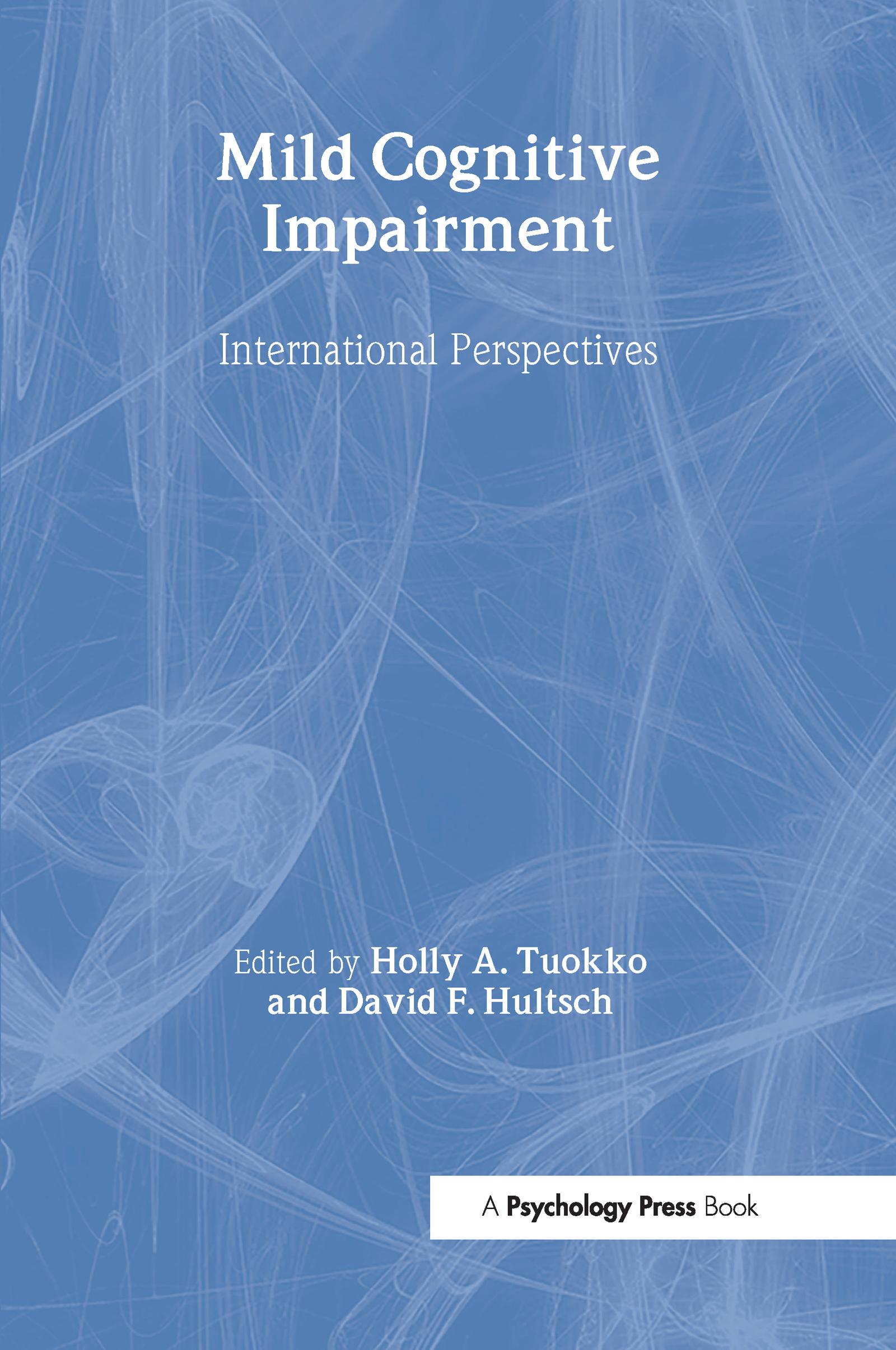 Mild Cognitive Impairment: International Perspectives, 1st Edition (Hardback) book cover