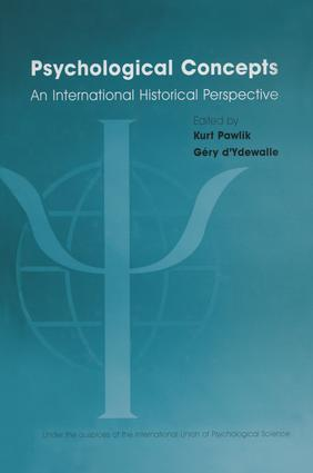 Psychological Concepts: An International Historical Perspective (Hardback) book cover