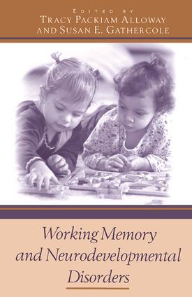 Working Memory and Neurodevelopmental Disorders (Hardback) book cover