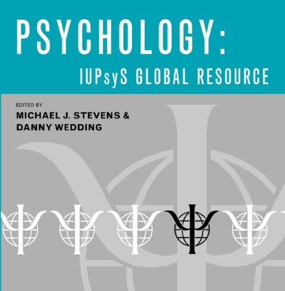 Psychology IUPsyS Global Resource: Edition 2006 book cover
