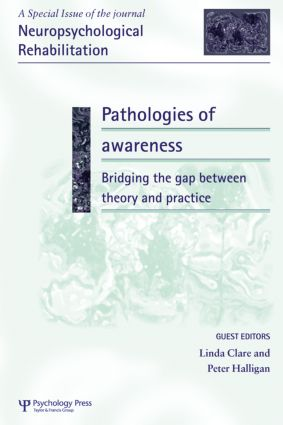 Pathologies of Awareness: Bridging the Gap between Theory and Practice: A Special Issue of Neuropsychological Rehabilitation (Hardback) book cover