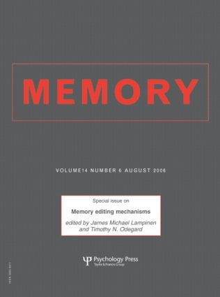 Memory Editing Mechanisms: A Special Issue of Memory (Paperback) book cover