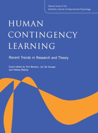 Human Contingency Learning: Recent Trends in Research and Theory: A Special Issue of the Quarterly Journal of Experimental Psychology (Hardback) book cover