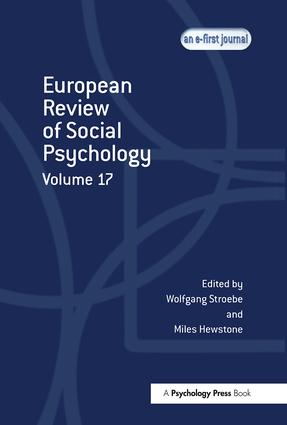 European Review of Social Psychology: Volume 17 (Hardback) book cover
