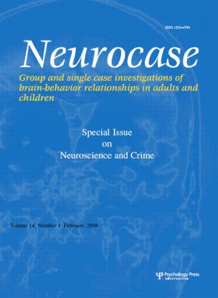Neuroscience and Crime: A Special Issue of Neurocase book cover