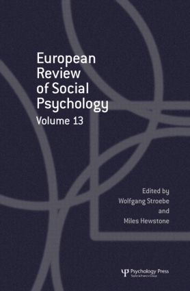 European Review of Social Psychology: Volume 13 (Hardback) book cover