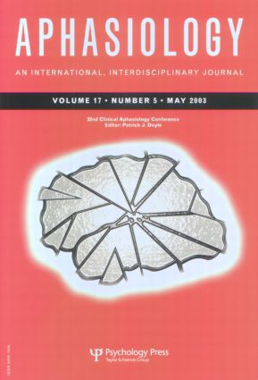 32nd Annual Clinical Aphasiology Conference: A Special Issue of Aphasiology book cover