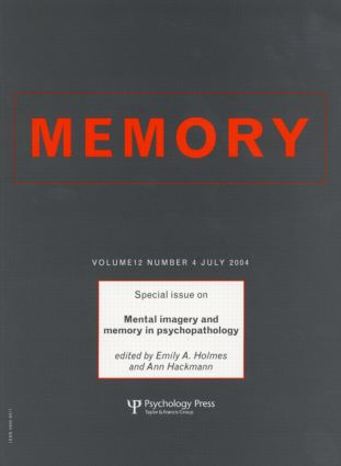 Mental Imagery and Memory in Psychopathology: A Special Issue of Memory, 1st Edition (Paperback) book cover