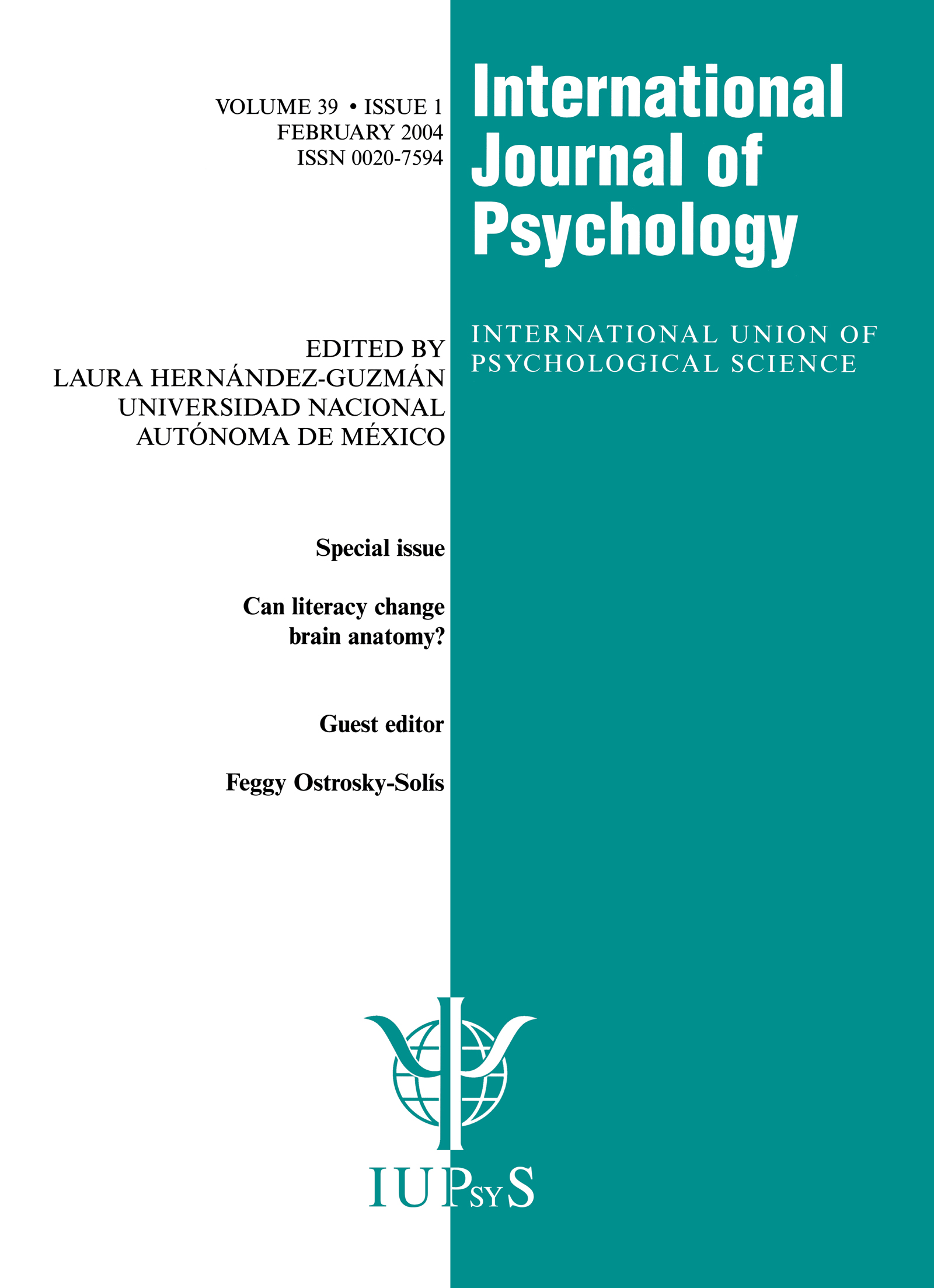 Can Literacy Change Brain Anatomy?: A Special Issue of the International Journal of Psychology book cover