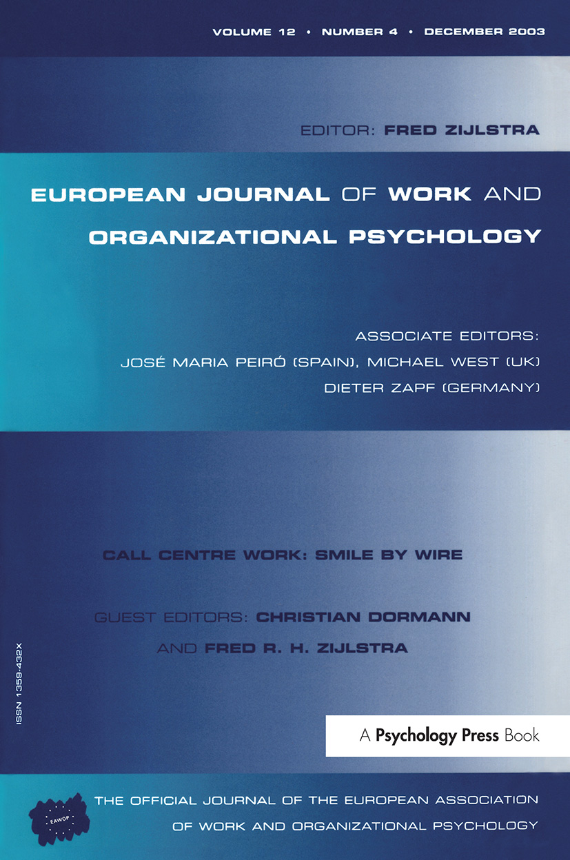 Call Centre Work: Smile by Wire: A Special Issue of the European Journal of Work and Organizational Psychology book cover
