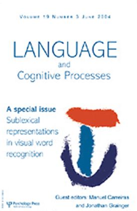 Sublexical Representations in Visual Word Recognition: A Special Issue of Language And Cognitive Processes (Paperback) book cover