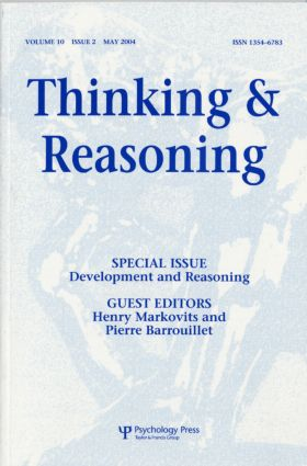 Development and Reasoning: A Special Issue of Thinking and Reasoning (Paperback) book cover