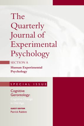 Cognitive Gerontology: Cognitive Change in Old Age: A Special Issue of the Quarterly Journal of Experimental Psychology, Section A book cover