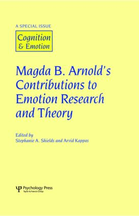 Magda B. Arnold's Contributions to Emotion Research and Theory: A Special Issue of Cognition and Emotion (Hardback) book cover