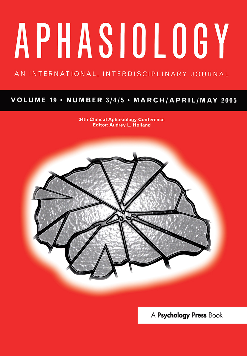 34th Clinical Aphasiology Conference: A Special Issue of Aphasiology book cover