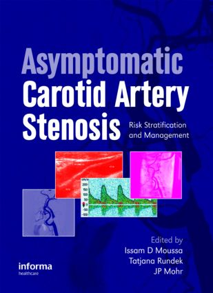 Asymptomatic Carotid Artery Stenosis: A Primer on Risk Stratification and Management, 1st Edition (Hardback) book cover