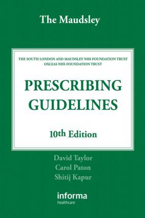 The Maudsley Prescribing Guidelines: 10th Edition (e-Book) book cover