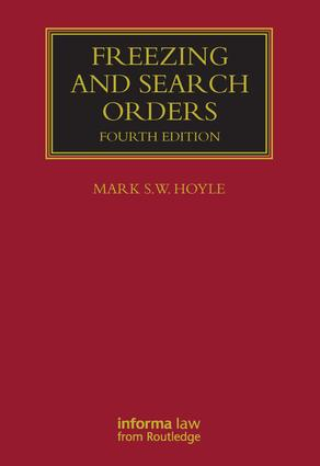 Freezing and Search Orders: 4th Edition (Hardback) book cover