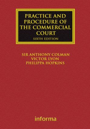 The Practice and Procedure of the Commercial Court