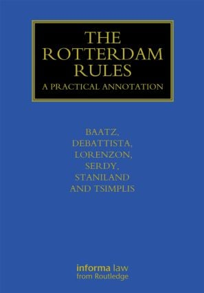 The Rotterdam Rules: A Practical Annotation book cover