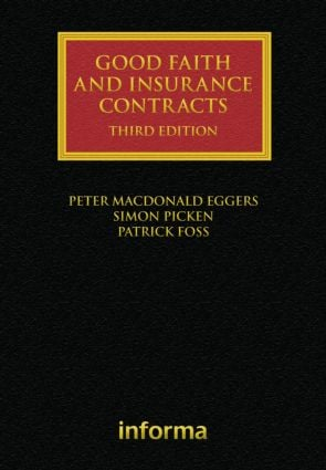 Good Faith and Insurance Contracts book cover