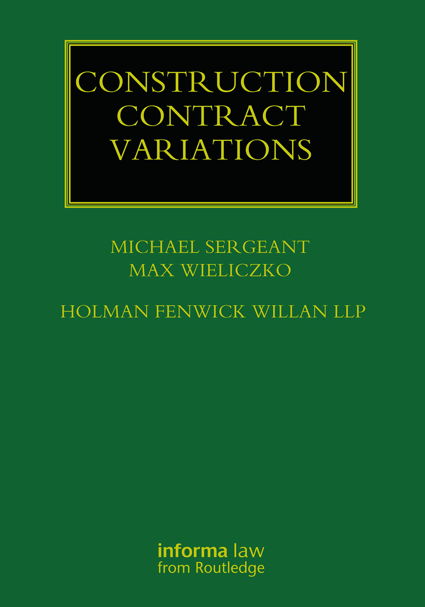 Construction Contract Variations: 1st Edition (Hardback) book cover