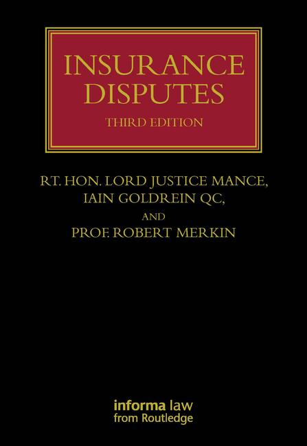 Insurance Disputes: 3rd Edition (Hardback) book cover