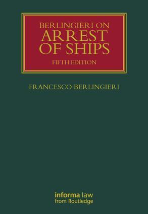 Berlingieri on Arrest of Ships book cover