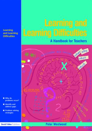Learning and Learning Difficulties: Approaches to teaching and assessment, 1st Edition (Paperback) book cover