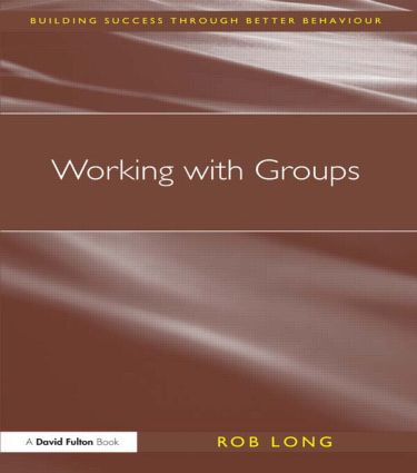 Working with Groups: 1st Edition (Paperback) book cover