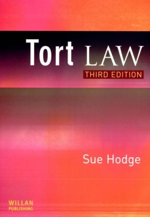 Tort Law: 3rd Edition (Paperback) book cover