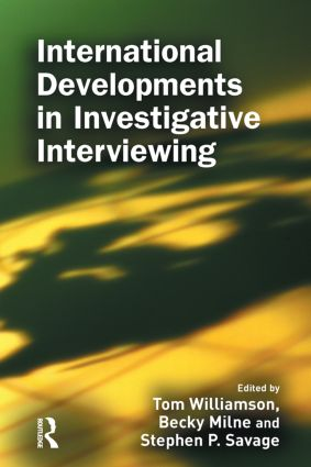 International Developments in Investigative Interviewing: 1st Edition (Hardback) book cover