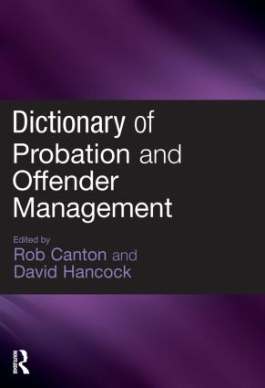 Dictionary of Probation and Offender Management (Paperback) book cover