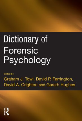 Dictionary of Forensic Psychology (Paperback) book cover