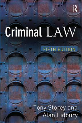 Criminal Law: 5th Edition (Paperback) book cover