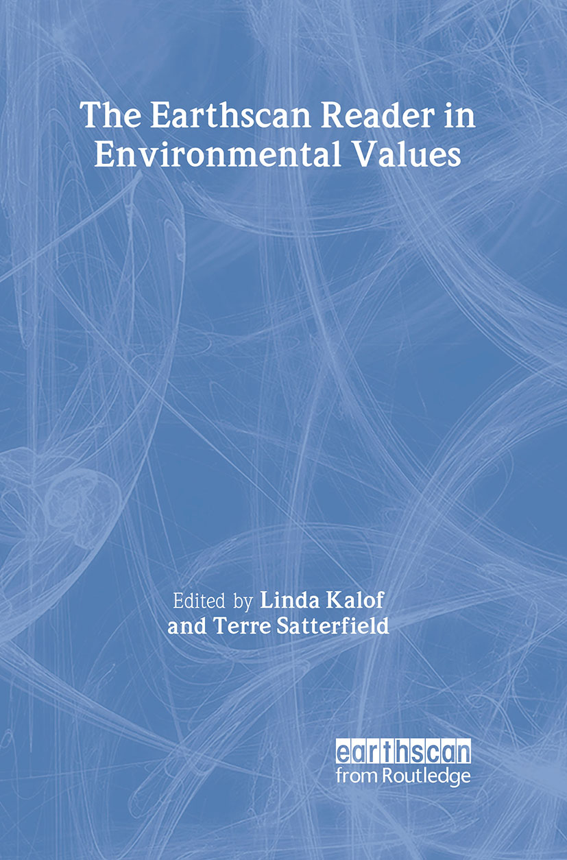 The Earthscan Reader in Environmental Values (Paperback) book cover