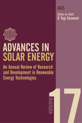 Advances in Solar Energy: An Annual Review of Research and Development in Renewable Energy Technologies, 1st Edition (Hardback) book cover