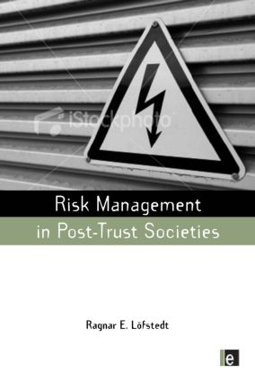 Risk Management in Post-Trust Societies (Paperback) book cover
