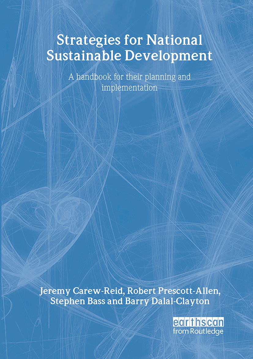 Strategies for National Sustainable Development: A handbook for their planning and implementation (Hardback) book cover