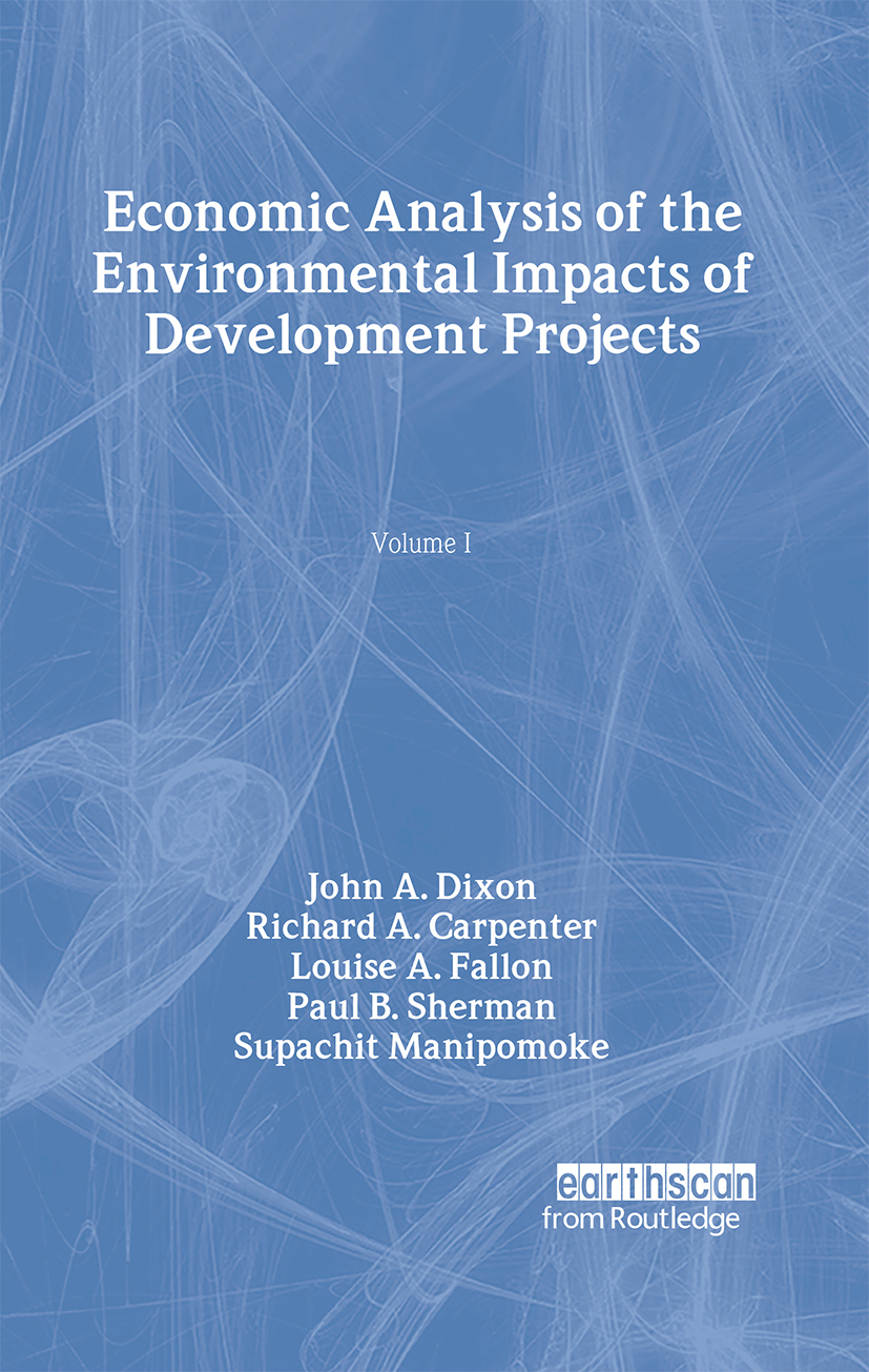 Economic Analysis of the Environmental Impacts of Development Projects (Hardback) book cover