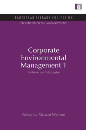Corporate Environmental Management 1: Systems and Strategies book cover