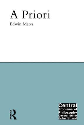 A Priori: 1st Edition (Hardback) book cover
