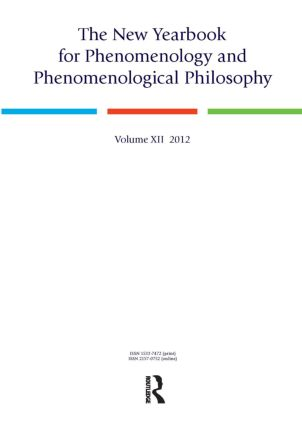 The New Yearbook for Phenomenology and Phenomenological Philosophy: Volume 12, 1st Edition (Paperback) book cover
