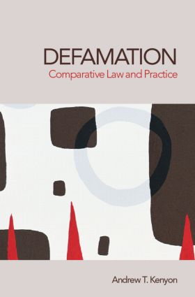 Defamation: Comparative Law and Practice book cover