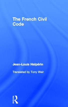 The French Civil Code book cover