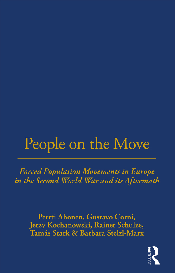 Population Movements at the End of the War and in Its Aftermath