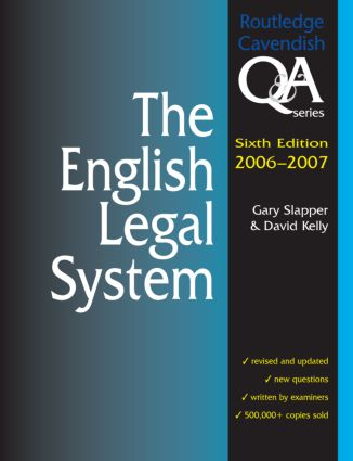 English Legal System Q&A 2006-2007 book cover