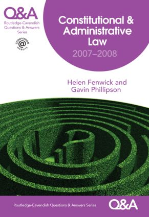 Q&A Constitutional & Administrative Law 2007-2008 book cover